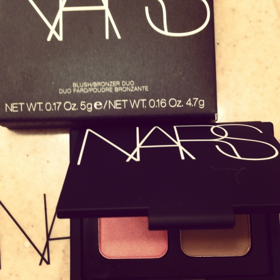 My favorite NARS palette: Orgasm/ Laguna - peachy-pink shimmer/ sheer light brown shimmer