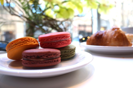 French Macarons + Chocolate Croissant