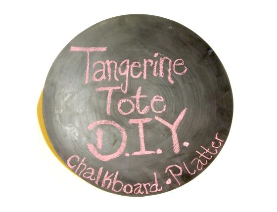 Chalkboard Platter by Tangerine Tote