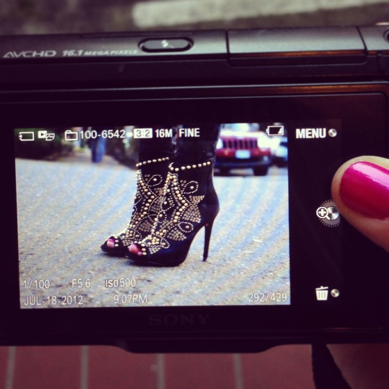 Photographing My Zara Boots