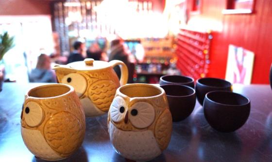 owl tea cups