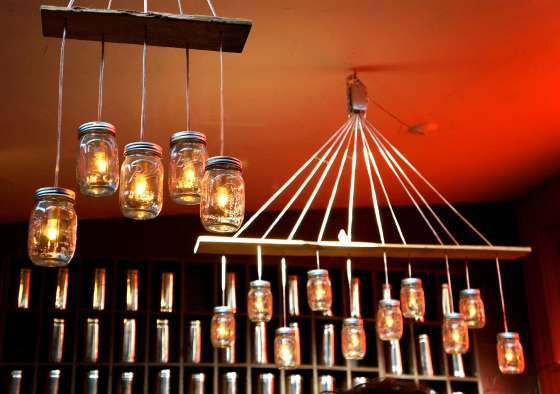 Tea Chai Te's mason jar hanging lights