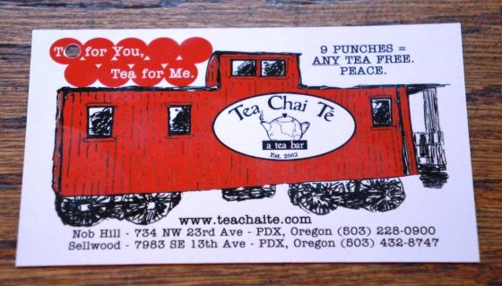 Tea Chai Te's punch card