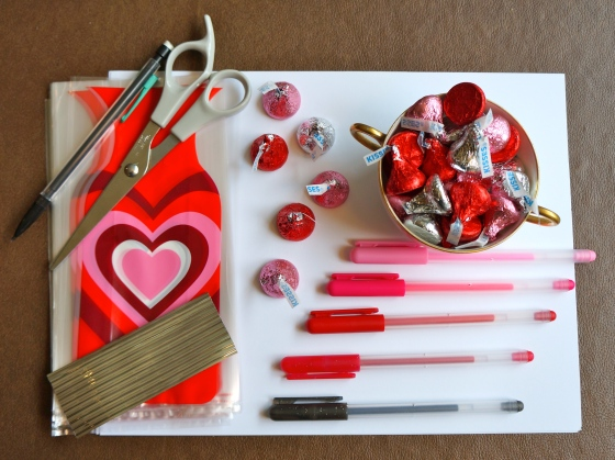 Valentine Kisses: Materials You Need