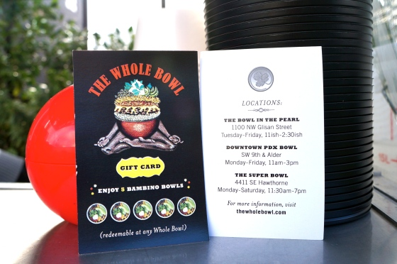 The Whole Bowl gift card and locations