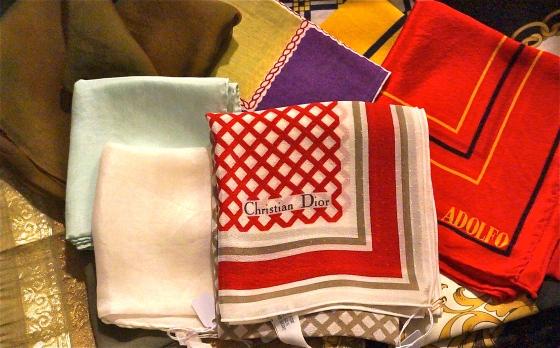 vintage scarfs - favorite find: vintage Christian Dior silk scarf