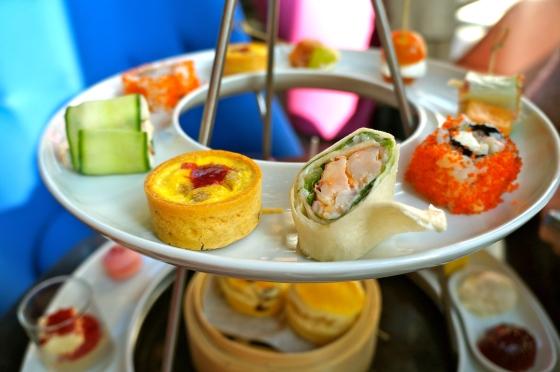 east meets west: savory treats on top