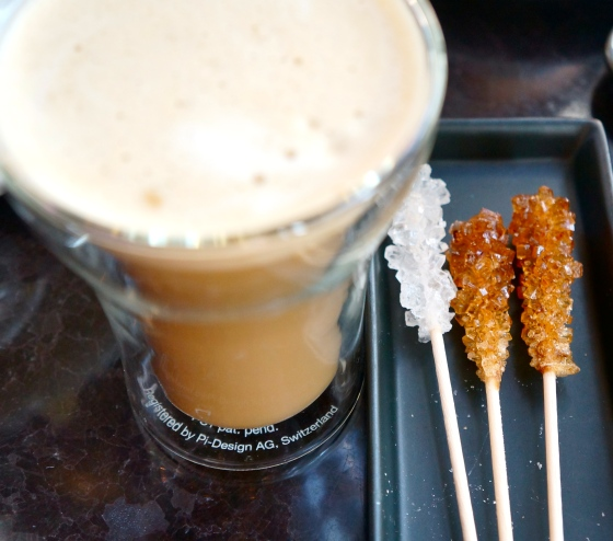 soy latte and sugar rock sticks