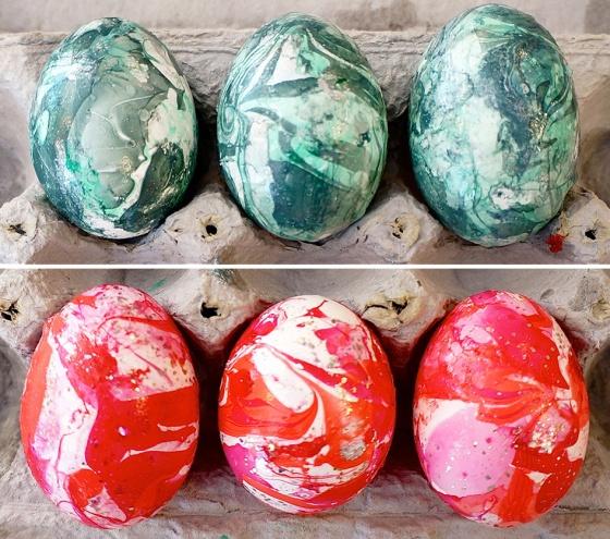 eggs drying in carton
