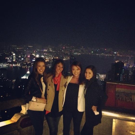 night view from Victoria Peak, Hong Kong