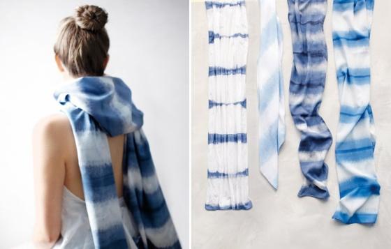 Martha Stewart Dip Dye Scarf