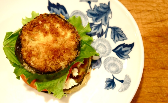 End result - Panko Eggplant Sandwich