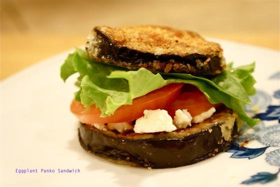 eggplant panko sandwich